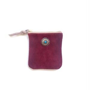 travel mini purse -wine-