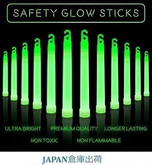 Safety Light Sticks \グロースティック グリーン(12パック) BestonStyle
