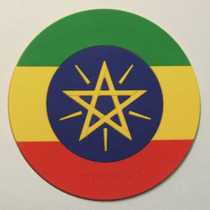 【国旗コースター】 エチオピア