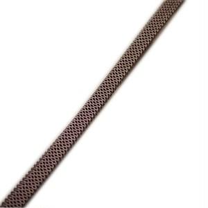 帯締め 帯〆 三分紐 正絹 手組 帯留め用(ブラウン系)日本製【ゆうパケットOK】 [260267]