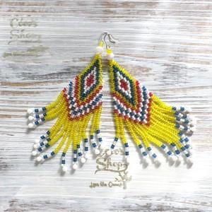 Hippie&Ethnic Fringe Pierce    -Yellow-