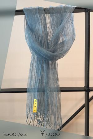 新商品 シルクスカーフ 藍染 (ina0017sca)