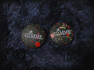"""GiMME(ギミー) /  """"GiMME"""" Logo Painting piece / BLK"""