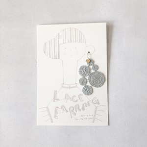 【片耳用】lace pierce LIGHTGRAY