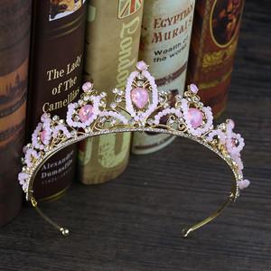5528髪飾り ティアラ カチューシャ  ヘアアクセサリー ヘアバンド 結婚式ブライダルクラウ 子供にも大人にも適用