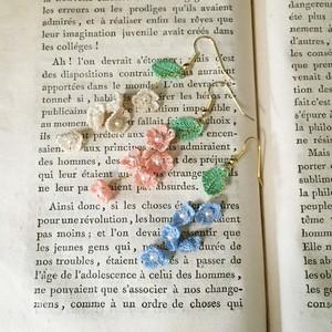 揺れるお花のロングピアス/イヤリング