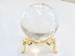 *水晶42.5mm球体・鑑別書つき*