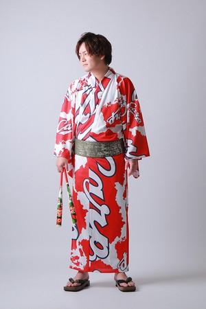 2020カープ浴衣 nishiki(小紋柄) メンズS~LL 背番号なし ポリエステル100% 仕立て上がり