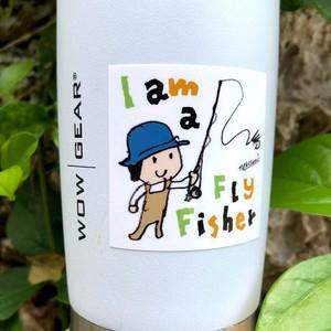 I am a flyfisher スクエアステッカー