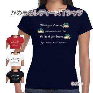 かめまるレディースTシャツ(夢)ネイビー
