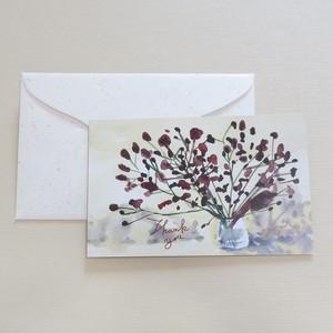小花:mini size 『 Thank you 』postcard & envelope