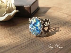 *:§ Blue Opal §:*ヴィンテージ・レーシーリング。