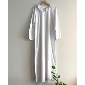 【送料無料】 80's Vintage white maxi dress