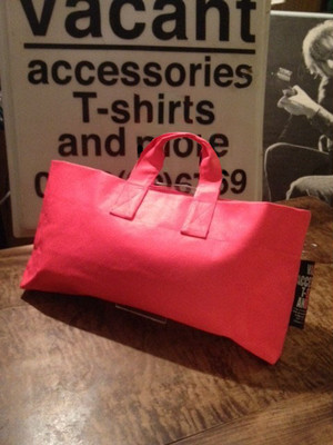 Painted Tote-bag 蛍光PINK