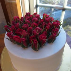 薔薇づくしの生ケーキ4号 ★人生の節目の歳に★
