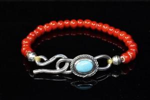 Life snake turquoise white hearts bracelet
