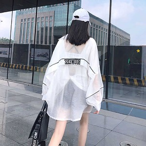 【トップス】ストリート長袖UVカットファッション無地透かし彫りパーカー42115876