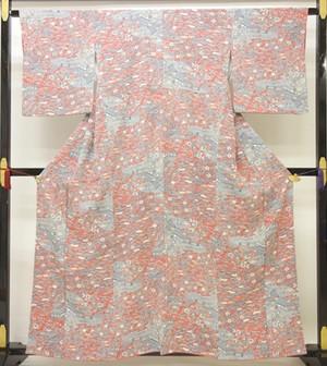 ☆20356☆中古美品 小紋 風景や草花模様 色彩豊か 華やか