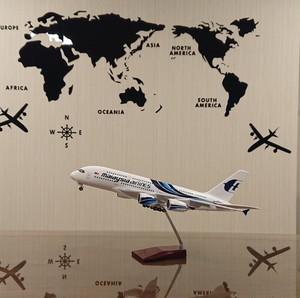 マレーシア航空 エアバスA380 模型飛行機 LED点灯 1/160 スタンド付
