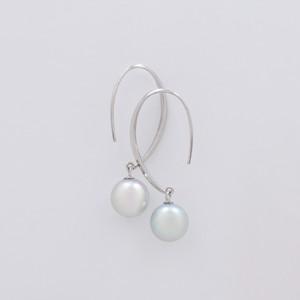 BASIC / Hook Earrings (Grey)