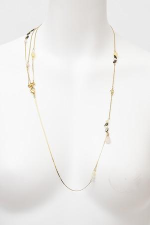 3WAY 天然石 ドレープ ブレスレット ネックレス