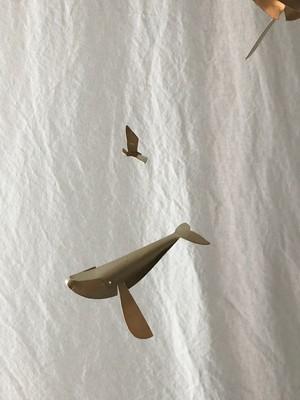 カモメとクジラ モビール/Ren