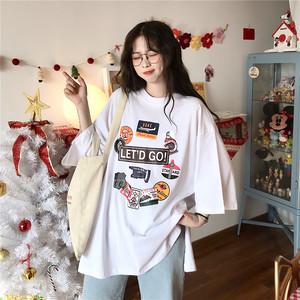 【トップス】ストリート系ラウンドネックプリントTシャツ21083657