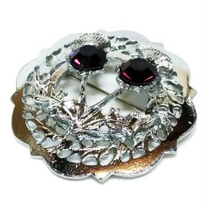 スコティッシュ・ブローチ【ダブルシスル】Miracle Jewellery 30160