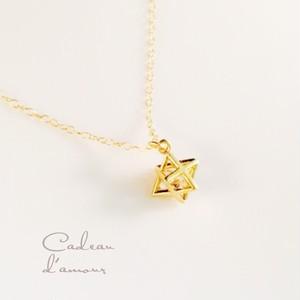 14kgf ジルコニア * 星のネックレス