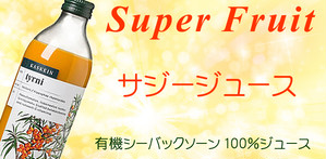 【賞味期限2019年1月24日分・取寄せ】有機サジージュース100% (シーバックソーン) 500ml