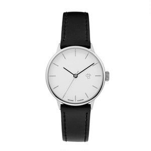 KHORSHID MINI SILVER【CHPO】 Silver dial. Black vegan leather strap
