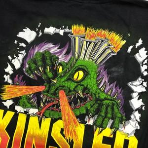 Kinsler Fuel Injection プリント Tシャツ 黒 ブラック Lサイズ モンスターT