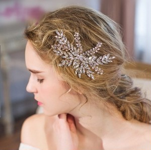 wedding headdress(kirakira leaf)
