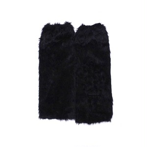 Fur leg warmers Black