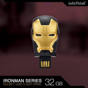 InfoThink USBメモリ MARVEL アベンジャーズ/インフィニティ・ウォー Avengers: Infinity War USB フラッシュドライブ マスク 32GB アイアンマン マーク20 パイソン