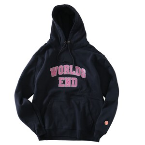 CHECKS WORLDS END HOODIE(NAVY)