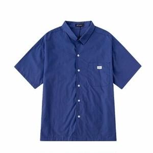 半袖シャツシンプルな無地オーバーサイズ5色ユニセックス送料無料