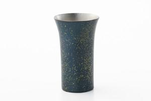 ビールカップ ちらし金青色(250ml)