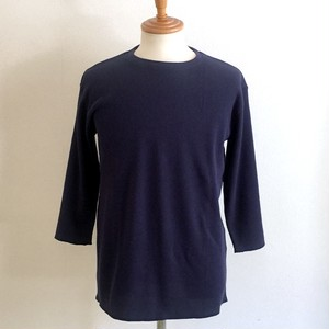 Waffle Crew Neck Cut & Sewn(Three-Quarter) Navy