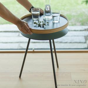 リバーシブルトレイ付きサイドテーブル