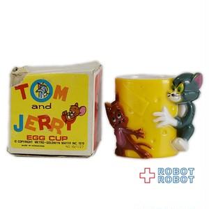 トム&ジェリー プラスチック エッグカップ フィギュア 箱入