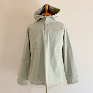 Cotton Cloth Anorak Parker Shirt Military Gray