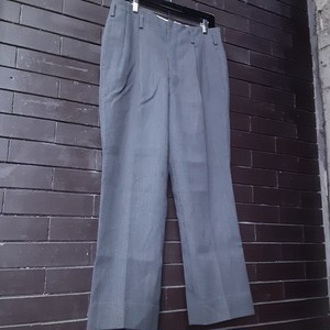 Stripe Patterned Wool Slacks ストライプ ウール スラックス