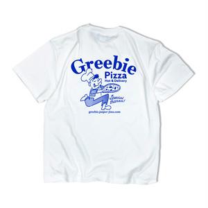 Pizza shop S/S shirts【White】