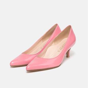 【一部難あり】エナメル カラー パンプス:ピンクE 24.5cm(OT547)