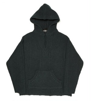 HAND KNIT MEXICAN HOODED SWEATER