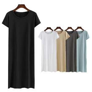 シンプルロングTシャツ/tops1056