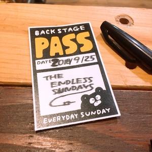 BSP(BACK STAGE PASS)ステッカー5pc(最新版は白いフチがなくなりました)