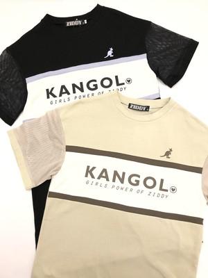 ZIDDY ジディー 【KANGOL×ZIDDY】メッシュ 切り替え Tシャツ ワンピース 1221-325069