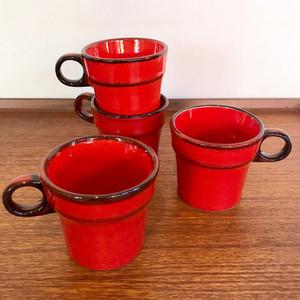 "Vintage pottery ""Jasba"" Coffee Mug FAT LAVA W.Germany"